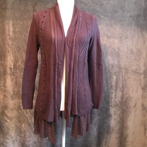 Anthropologie Knitted & Knotted Ruffled Cardigan S